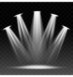 Searchlight illuminated scene vector image