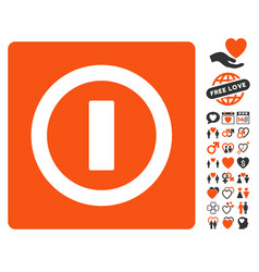 Turn off icon with dating bonus vector