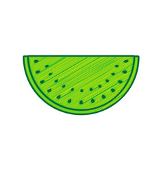 watermelon sign lemon scribble icon on vector image vector image
