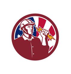 american lineman usa flag icon vector image vector image