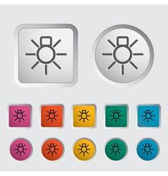 Bulb icon2 vector image vector image