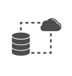 data storage sync flat icon vector image vector image