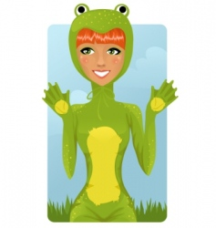 frog costume vector image vector image