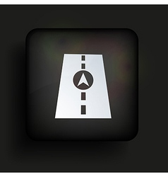 square icon on black background Eps10 vector image