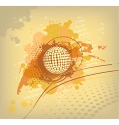 yellow colored abstract background vector image vector image