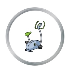 Exercise bicycle icon in cartoon style isolated on vector image vector image