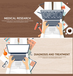 medical flat background health carefirst aid vector image
