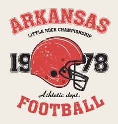 arkanzas t shirt with football helmet vector image
