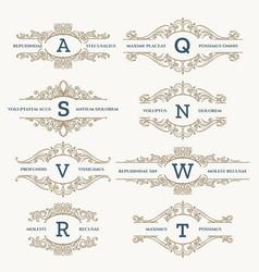 classic wedding retro logo set vector image