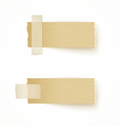 paper labels attached with sticky tape vector image