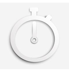 Paper stopwatch vector image
