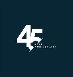 45 years anniversary template design vector