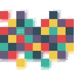 abstract squares background template retro style vector image