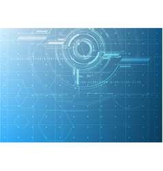 abstract technological future blueprint drawing vector image