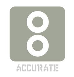 Accurate conceptual graphic icon vector