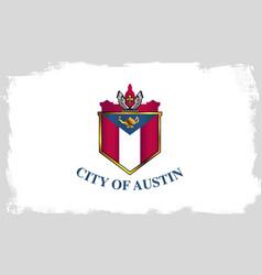 Austin city flag vector