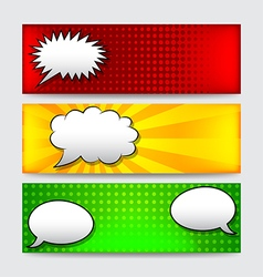 Banners with comics speech bubbles vector
