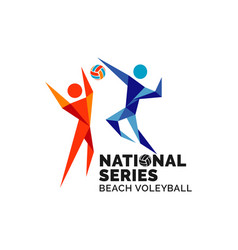 Beach volleyball series championship league vector