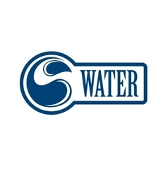 Blue logo Label for mineral water Aqua icon vector image