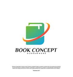 book logo concept smart learning education logo vector image