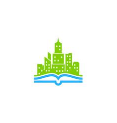 Book town logo icon design vector