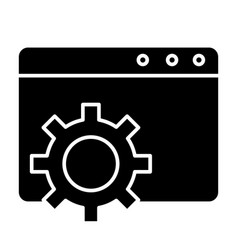 Browser settings solid icon computer settings vector