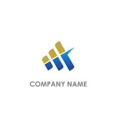 Business line shape economy logo vector