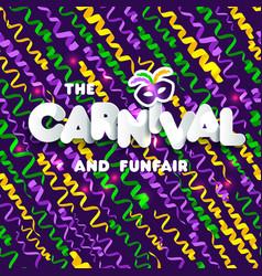 Carnival mardi gras pattern vector