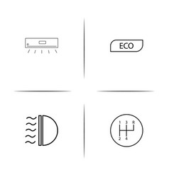 Cars and transportation simple linear icon vector