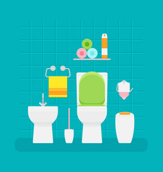 ceramic toilet interior in vector image