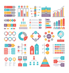 Charts graphs and other different infographics vector