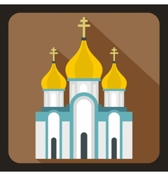 Church icon in flat style vector image