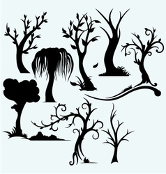 Collection of bare trees vector image