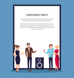 Corporate party disco on white vector