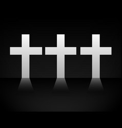 Crosses casting light on dark backgroud eps 10 vector