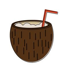delicious coconut cocktail vector image