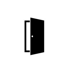 door icon in flat style open door symbol vector image