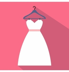 Dress on a hanger flat icon vector image