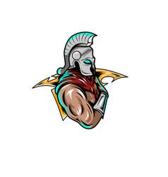 E-sport logo spartan vector