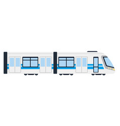 Electric intercity train flat isolated vector
