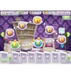 Example gamescreen to select level game vector