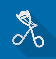 Eyelash curler icon in flat style isolated on vector