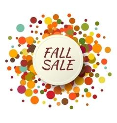 Fall sale promo label autumnal confetti template vector
