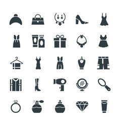 Fashion and Clothes Cool Icons 4 vector