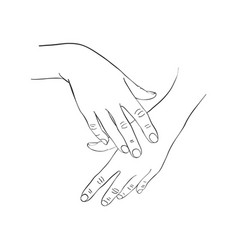 Female hands applying cream vector
