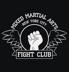 fight club logo new york mma vector image