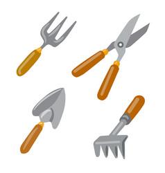 Gardening work tools vector