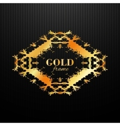 Gold ornament label vintage frame vector