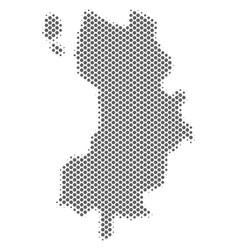 Halftone gray koh tao thai island map vector
