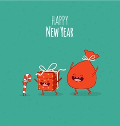 Happy NewYear card Gift vector